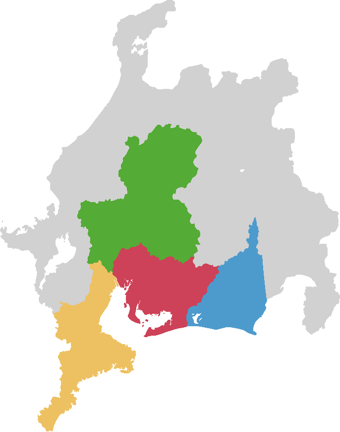 愛知県・三重県・岐阜県全域及び、静岡県の一部でご対応が可能です。
